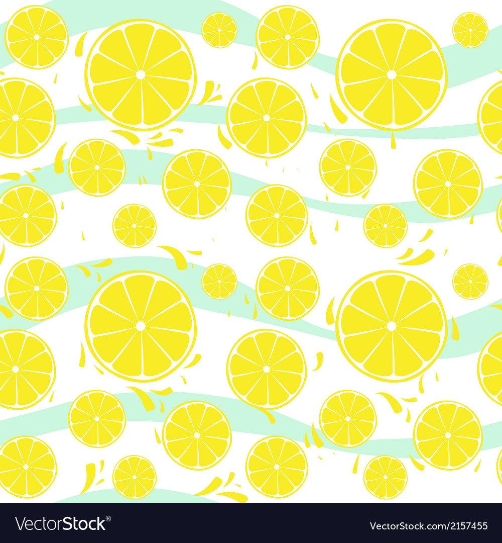 Lemons slices seamless pattern splash