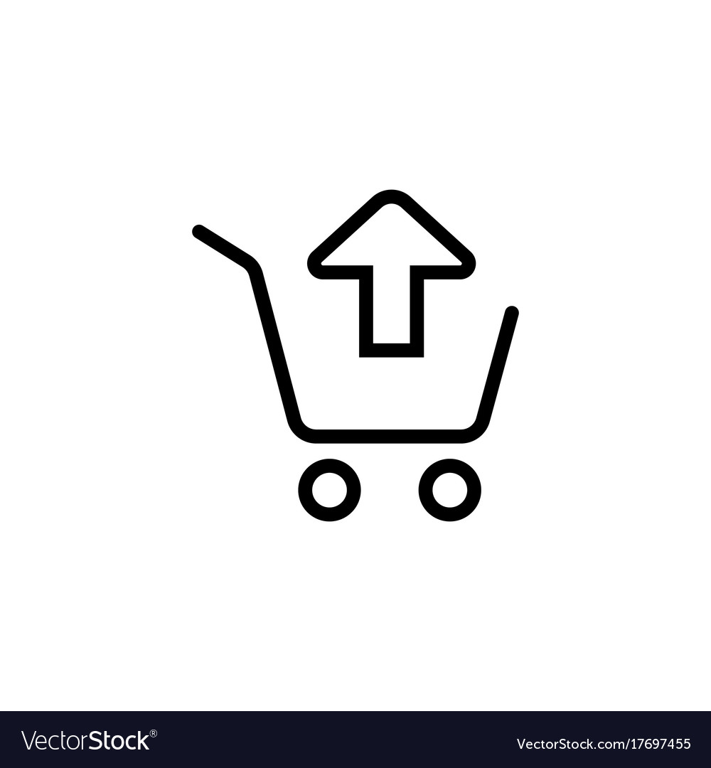 Remove from shopping card trolley icon