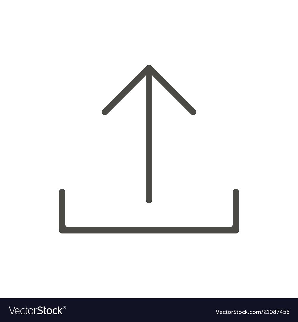 Upload icon line uploading symbol