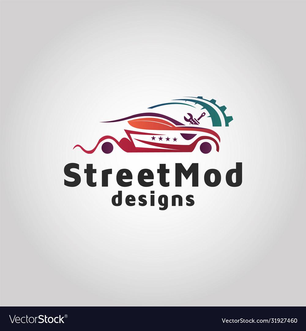 Car Repair Shop Logo Design Template Royalty Free Vector