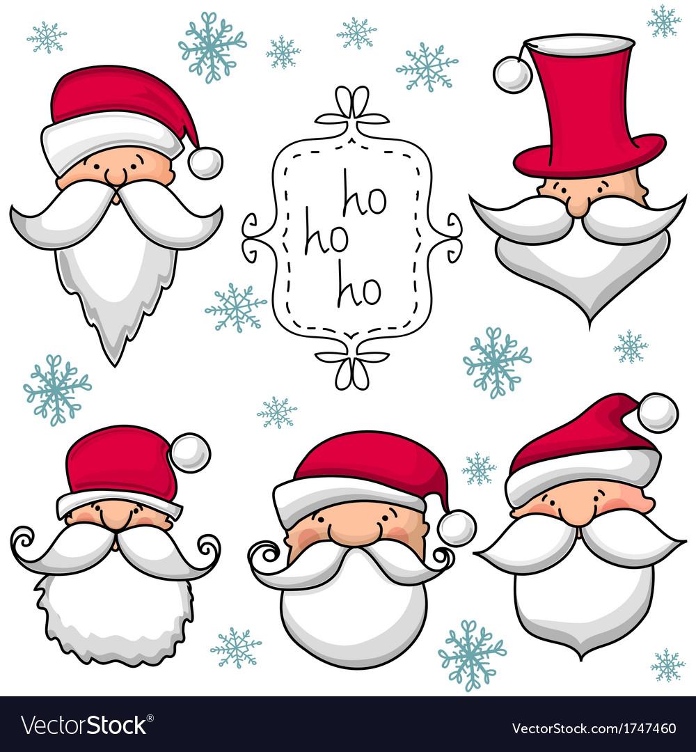 Christmas set with Santa Claus