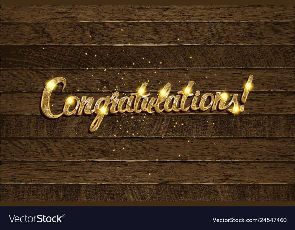 Congratulations - hand drawn lettering