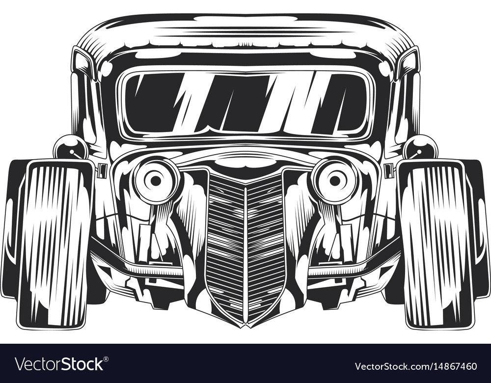 Isolated of custom hot rod vector image