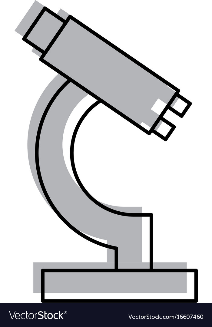 Laboratory microscope isolated icon