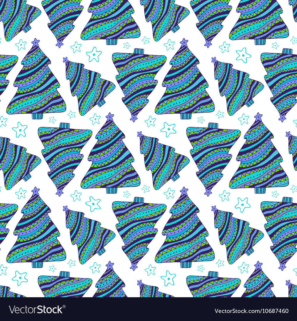 Seamless pattern with hand drawn doodle