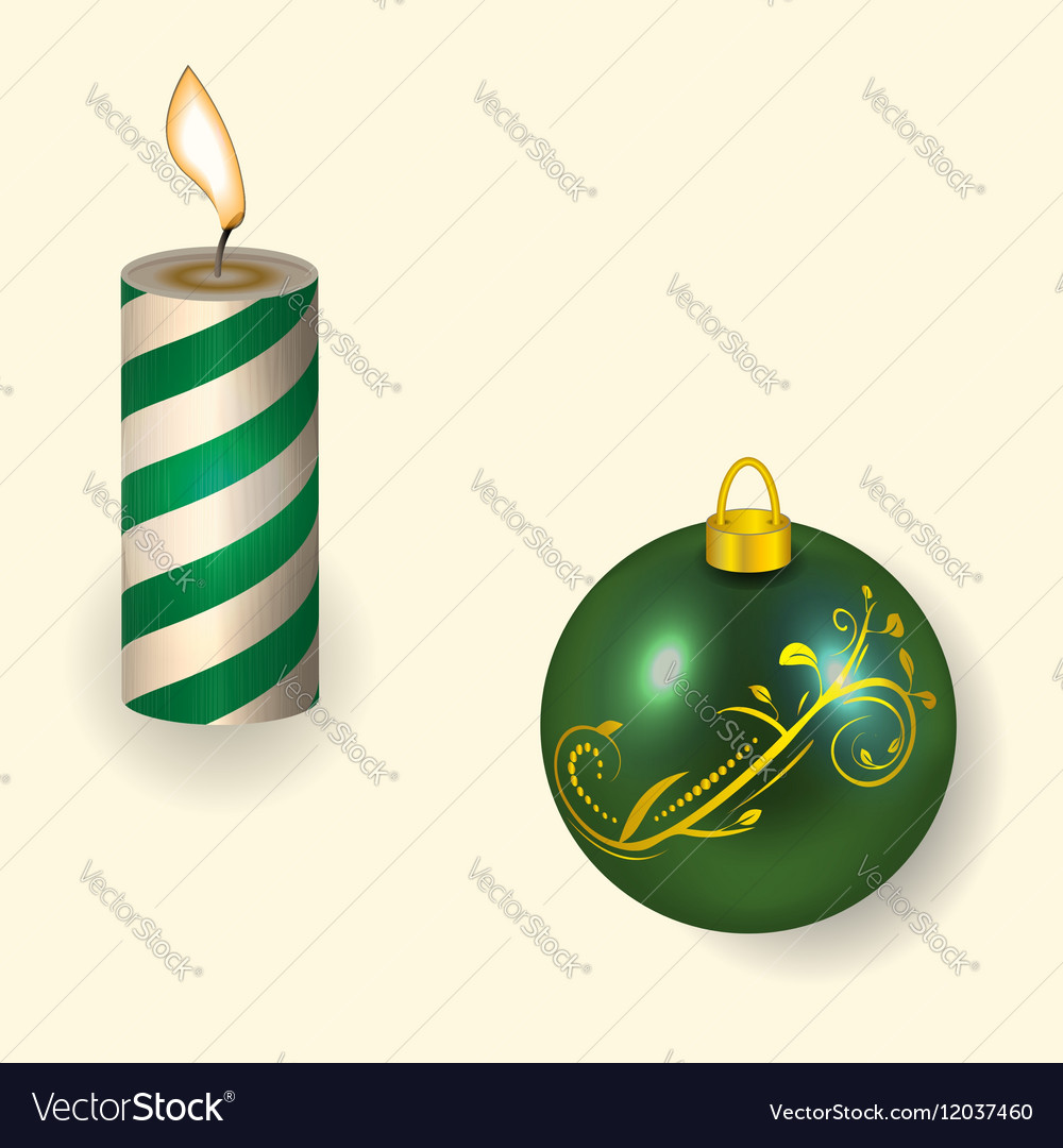 The Christmas candle and