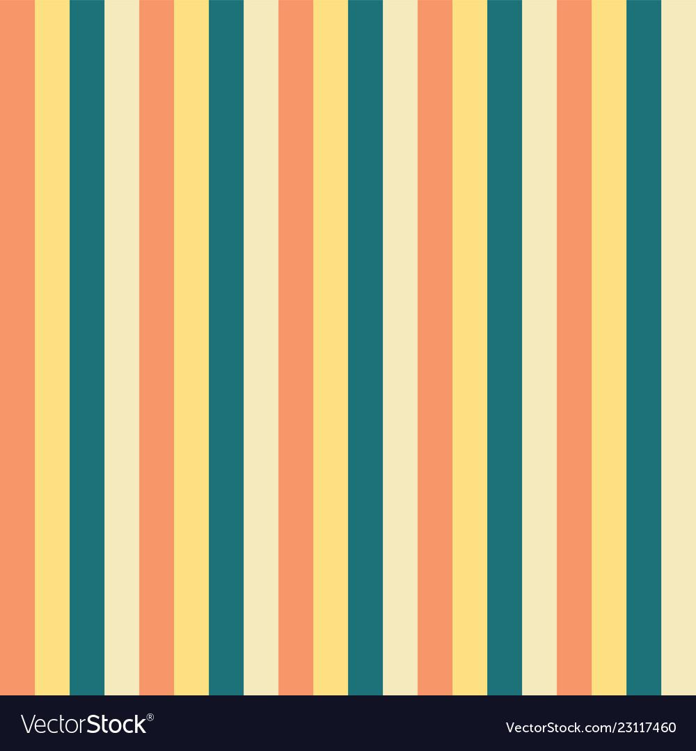 Vertical stripes yellow teal blue peach pattern