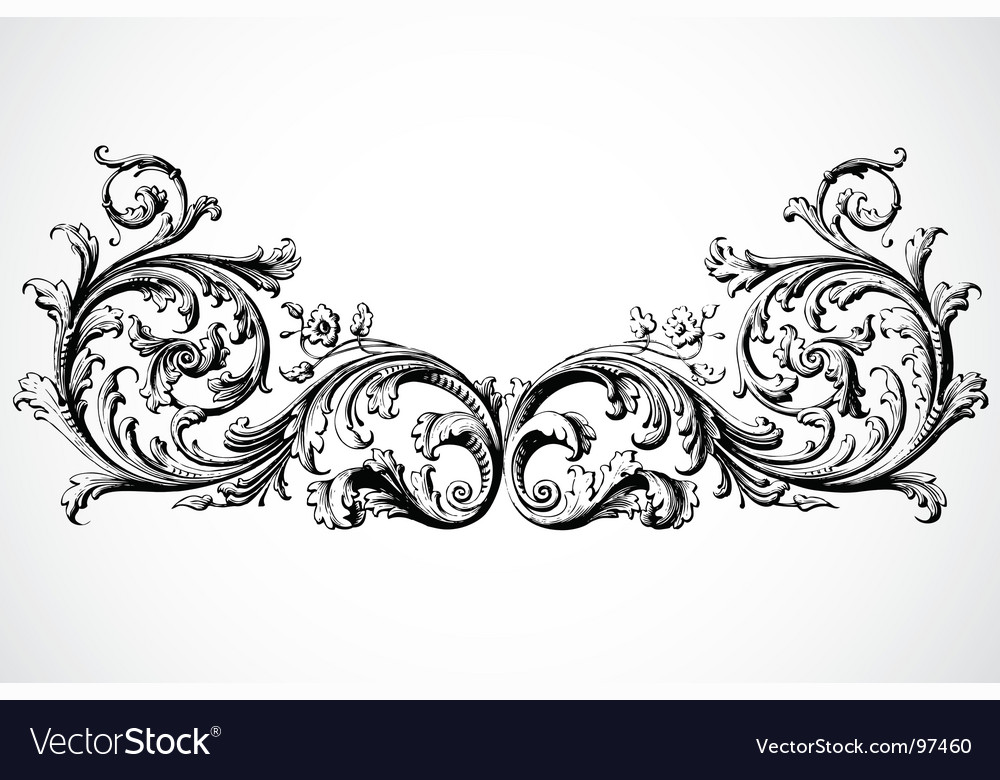 Vintage traced woodcut vector image
