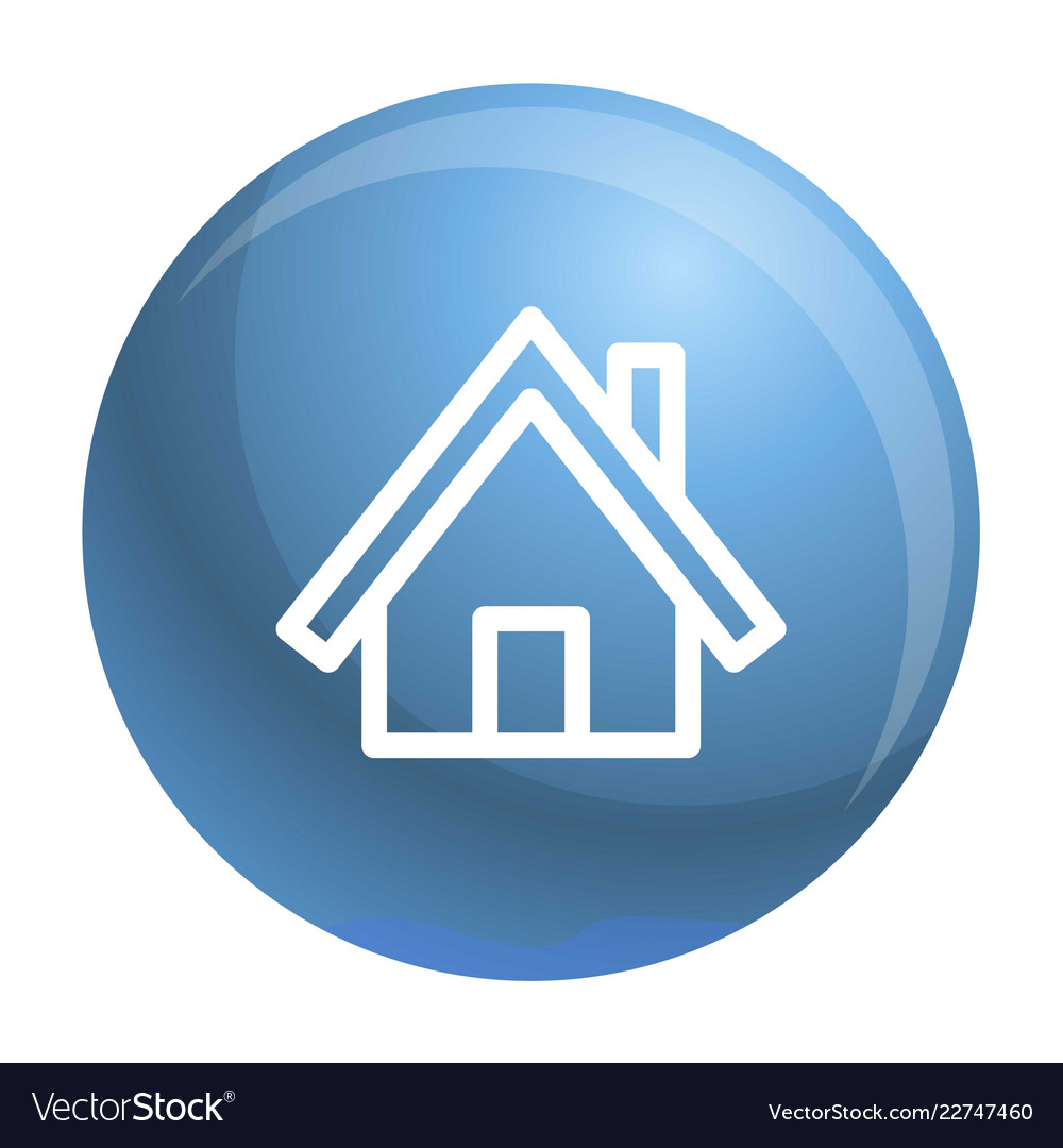 Wood house icon outline style