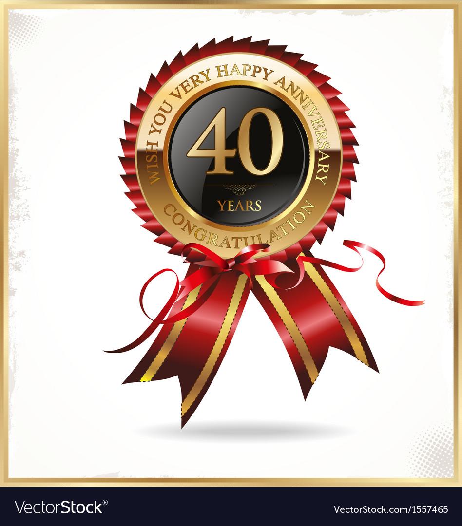 40 years anniversary label