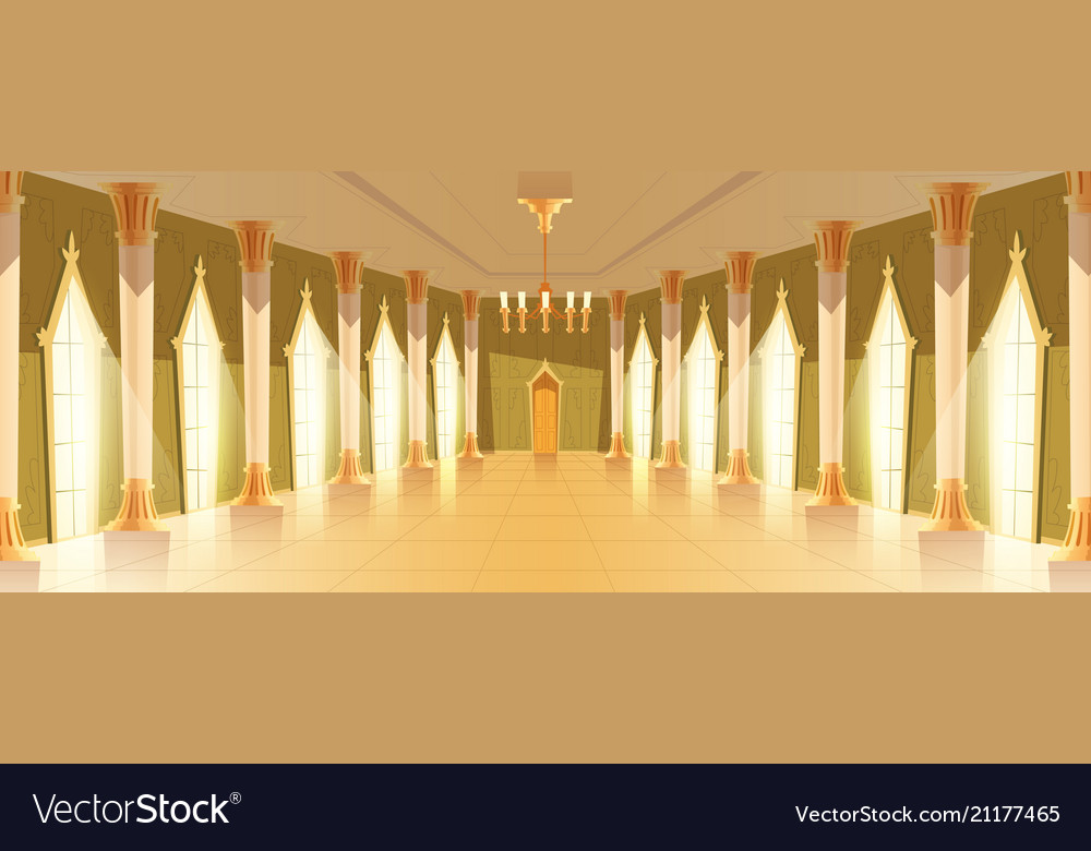 Ballroom hall with chandelier vector image