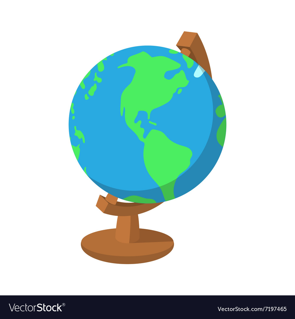 Cartoon globe icon