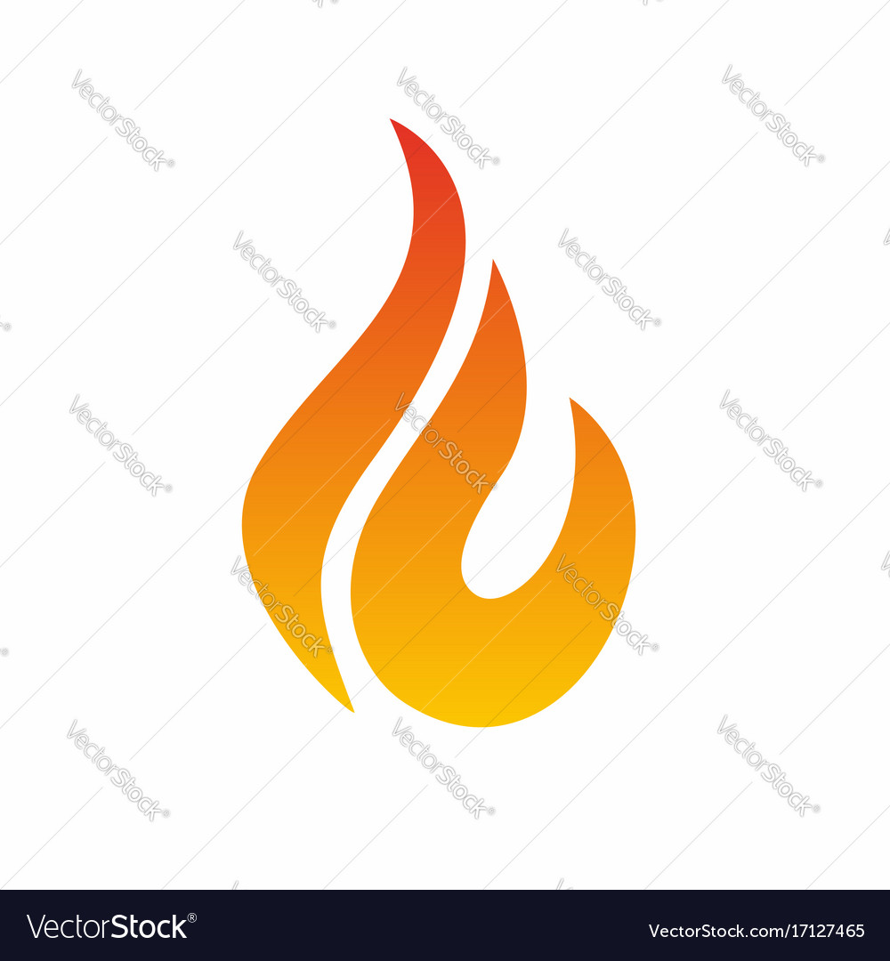 Flame logo fire icon fire flame logo design vector image