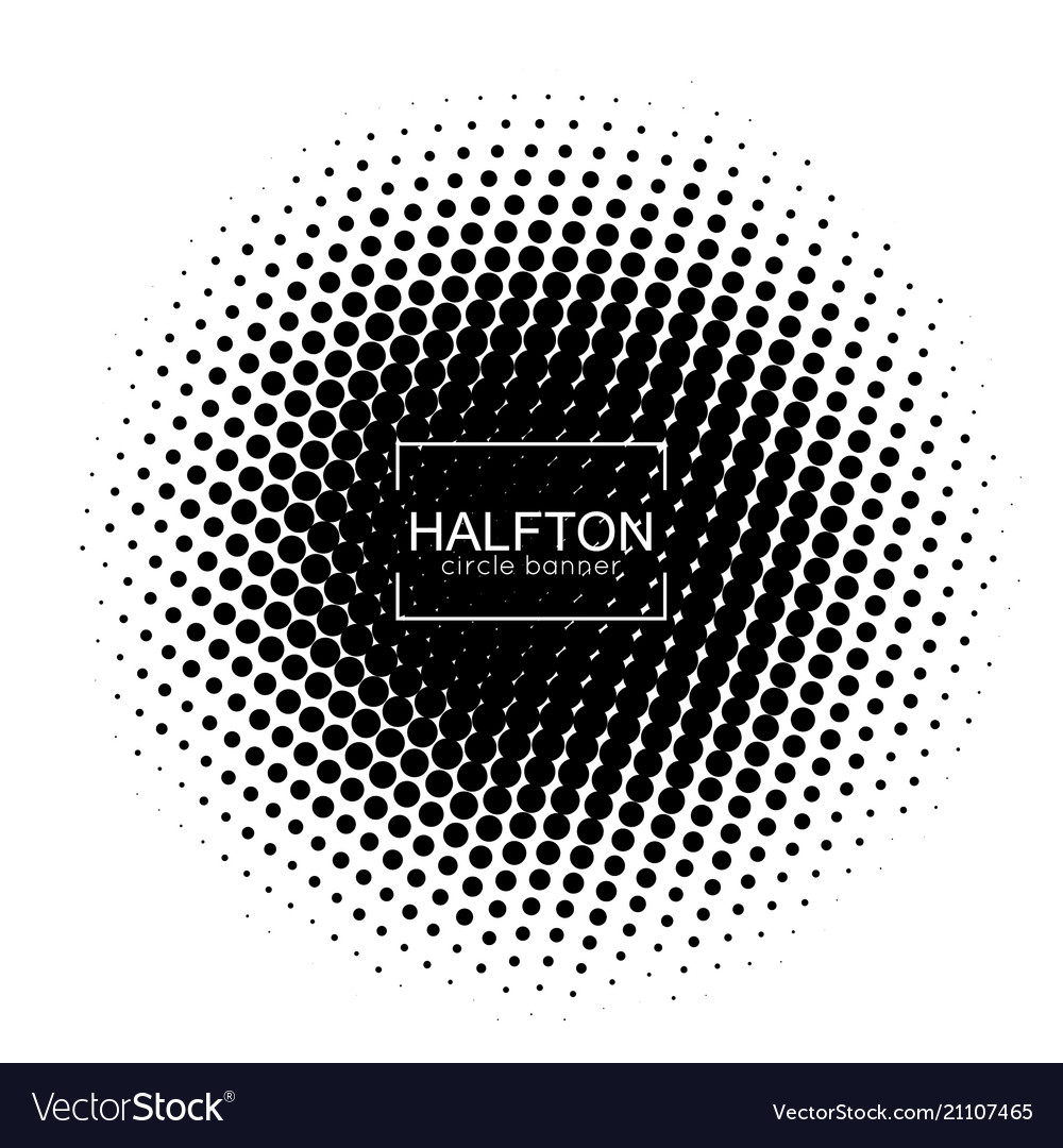 Halftone round banner