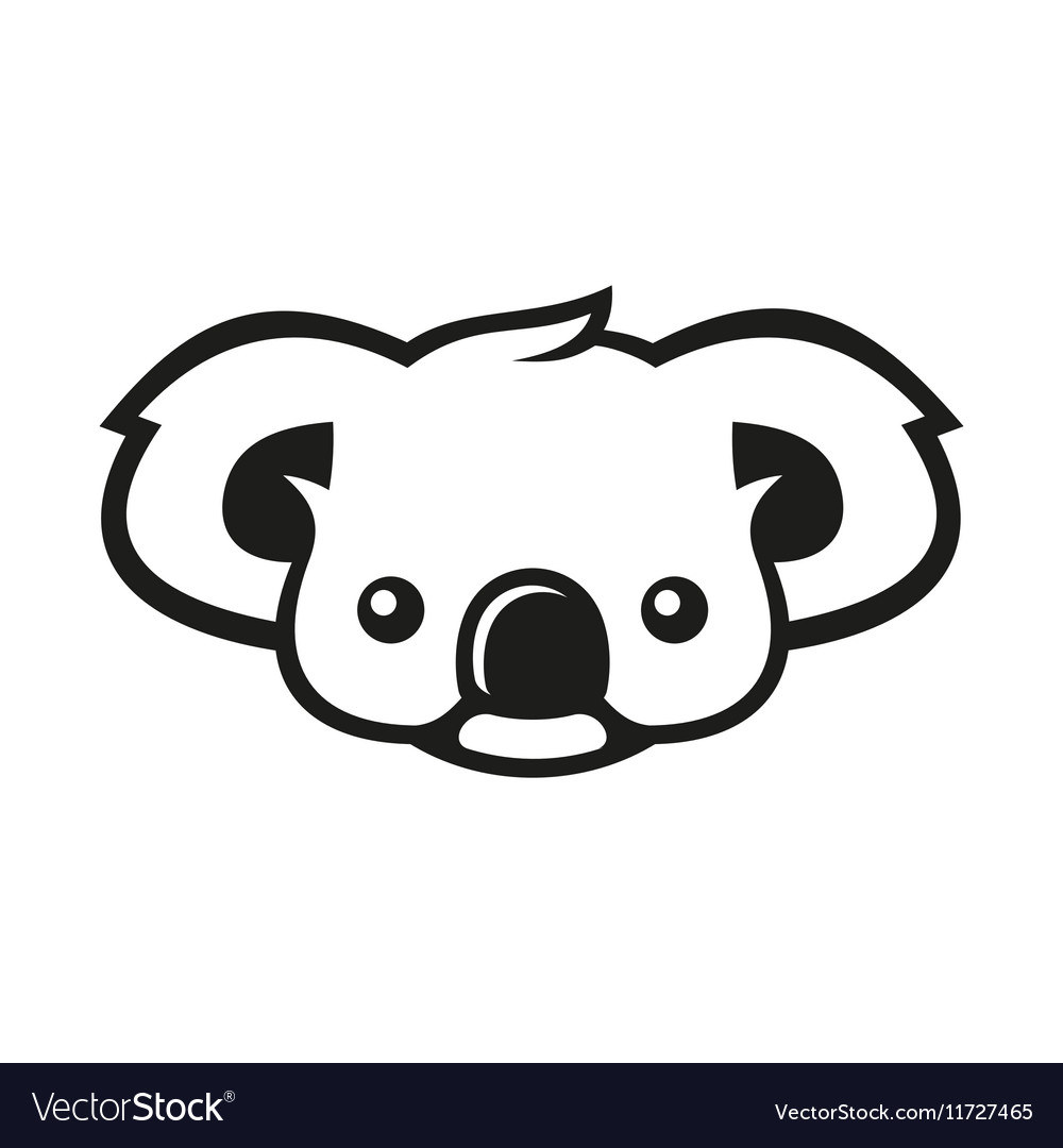 Koala Bear Sign Logo