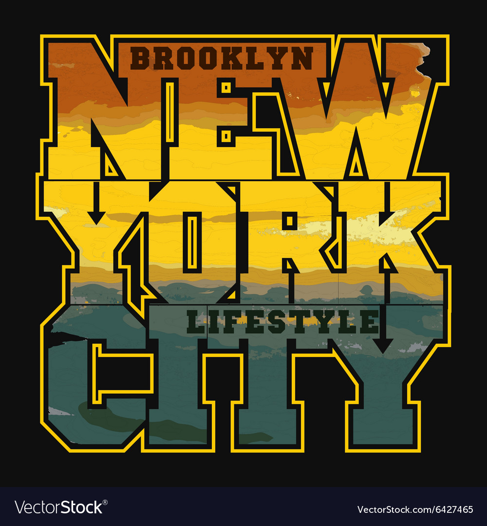 New york sport t-shirt design
