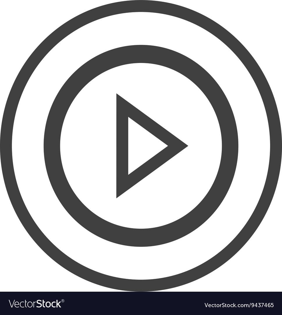White media icon graphic vector image