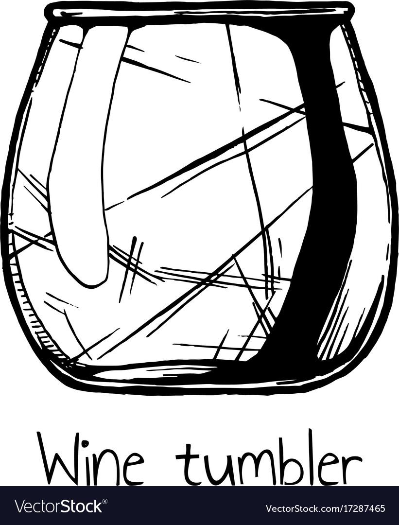 Wine tumbler glass