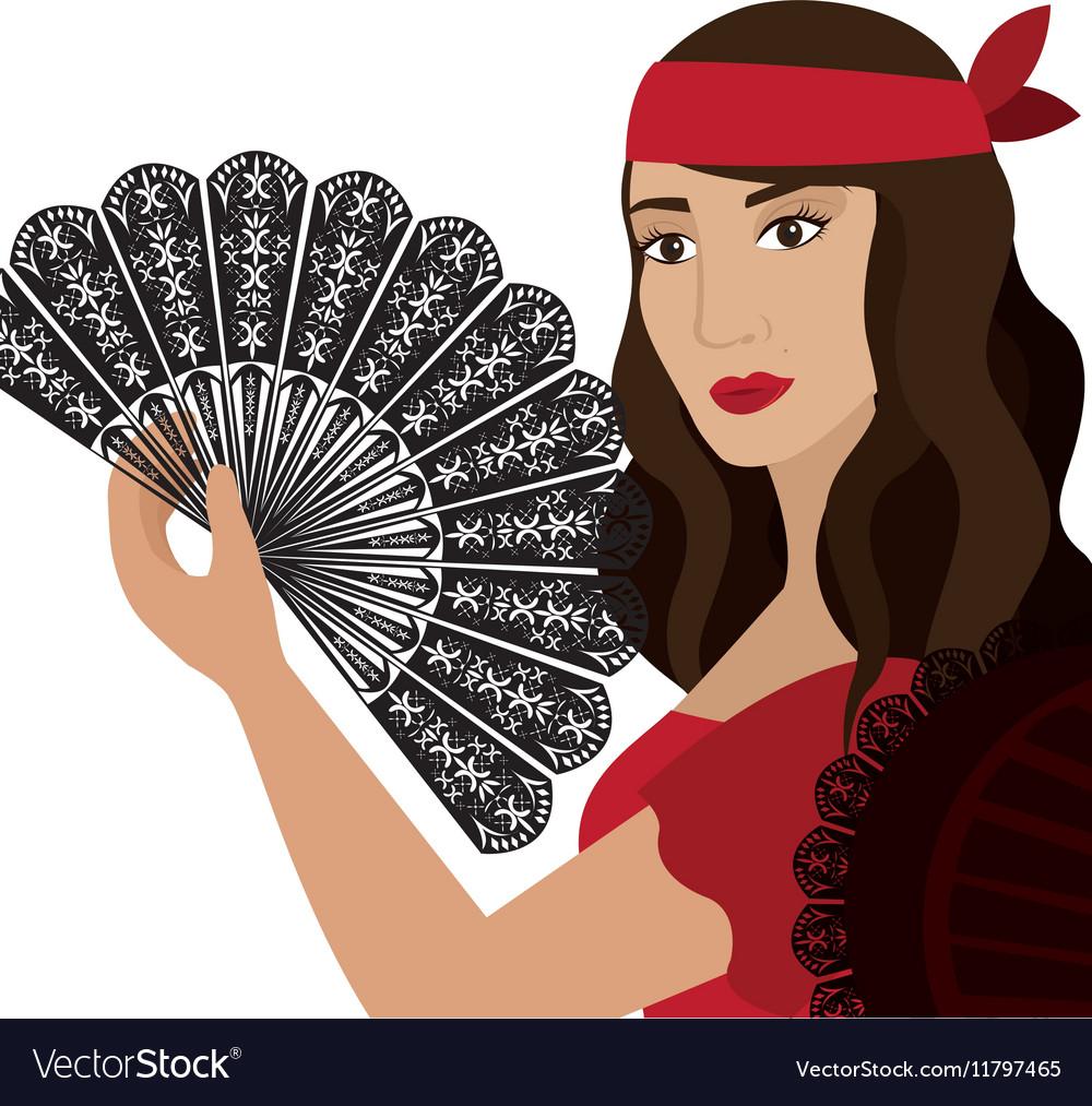 Woman dancer flamenco character