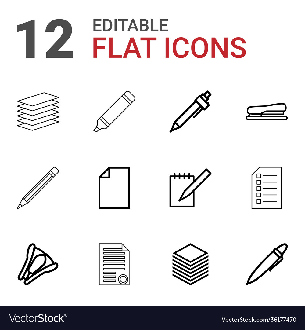 12 pen icons