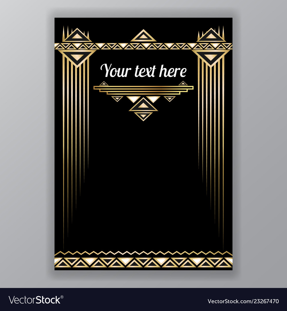 Art deco page template