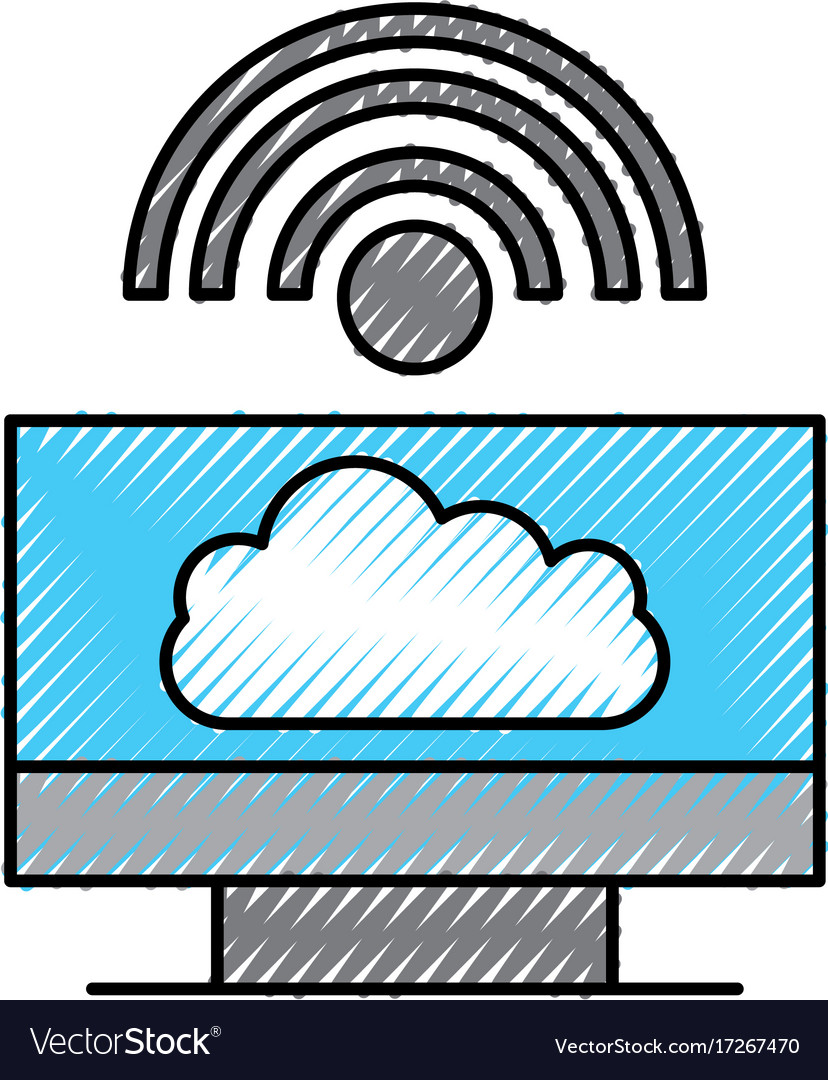 Cloud computing computer internet wifi connected