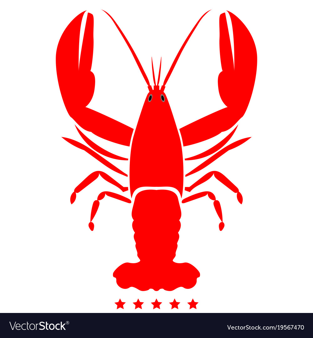 Craw fish icon color fill style Royalty Free Vector Image