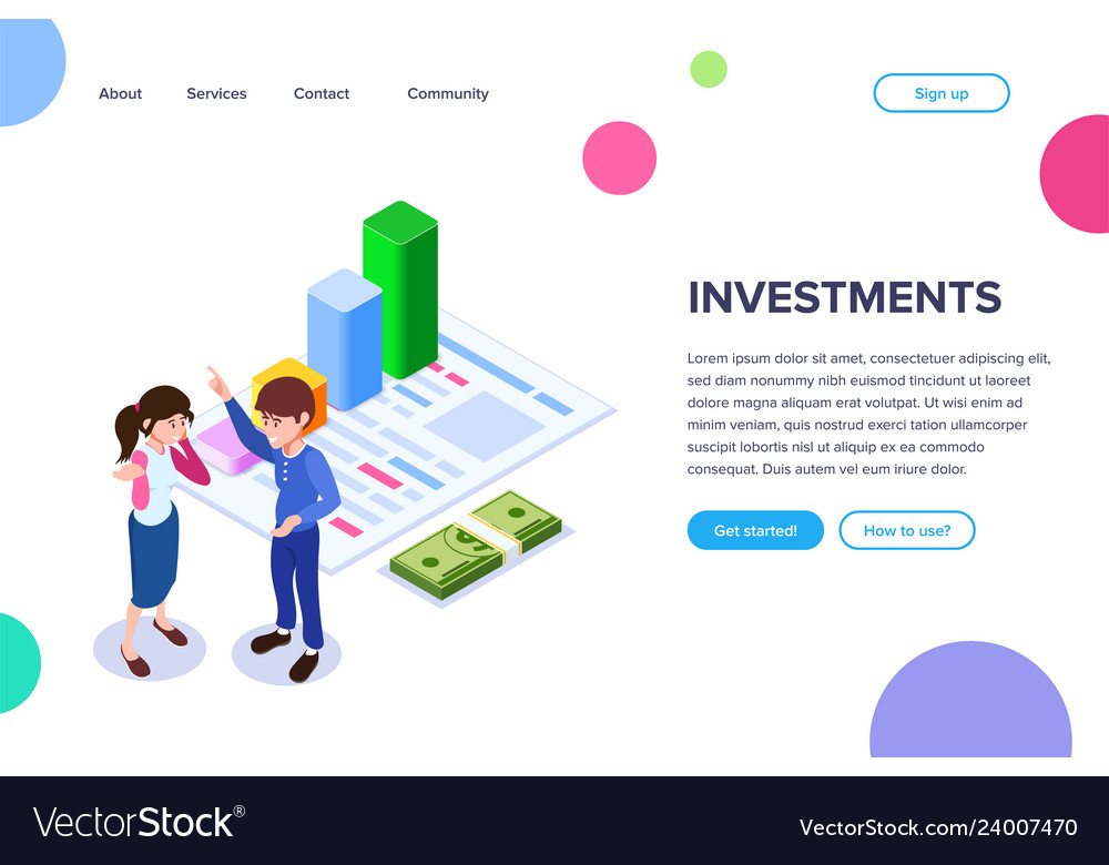 Isometric investment concept