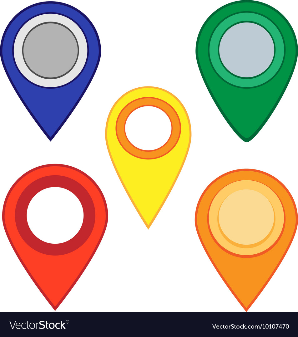 Map pins map markers set