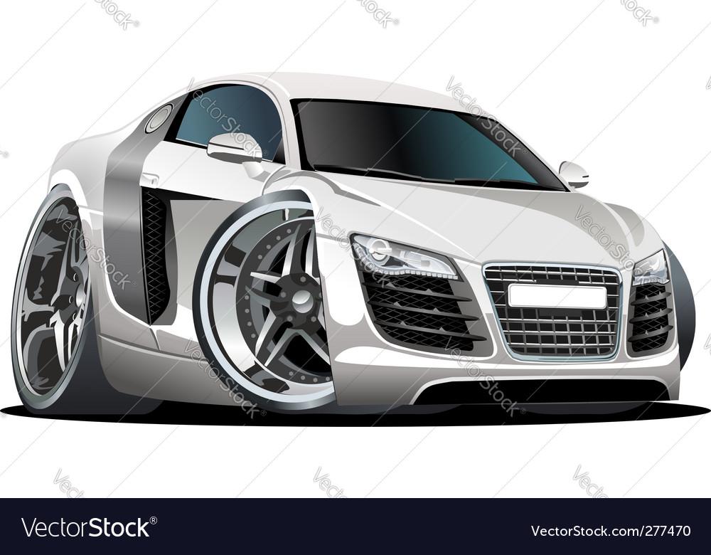 Modern cartoon car
