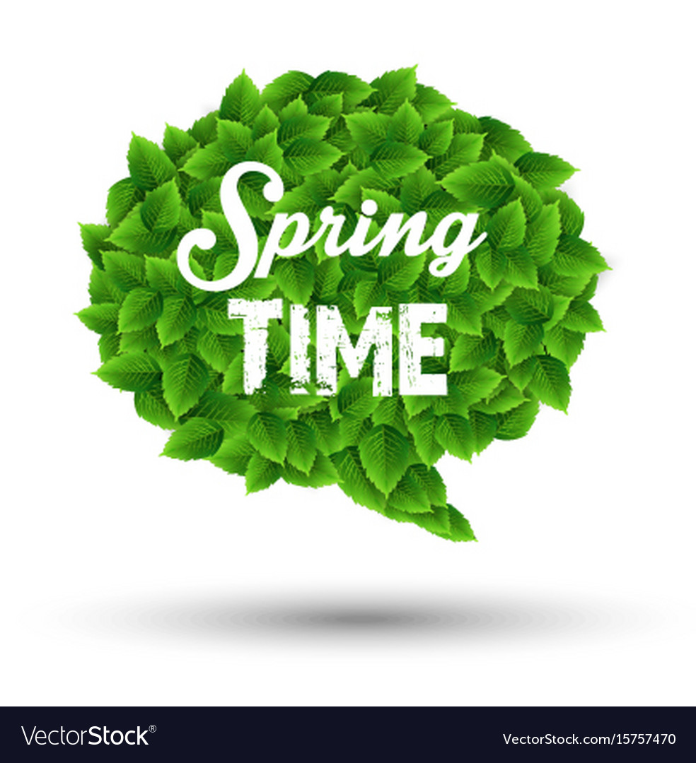 Springtime Greeting In A Speech Bubble Royalty Free Vector