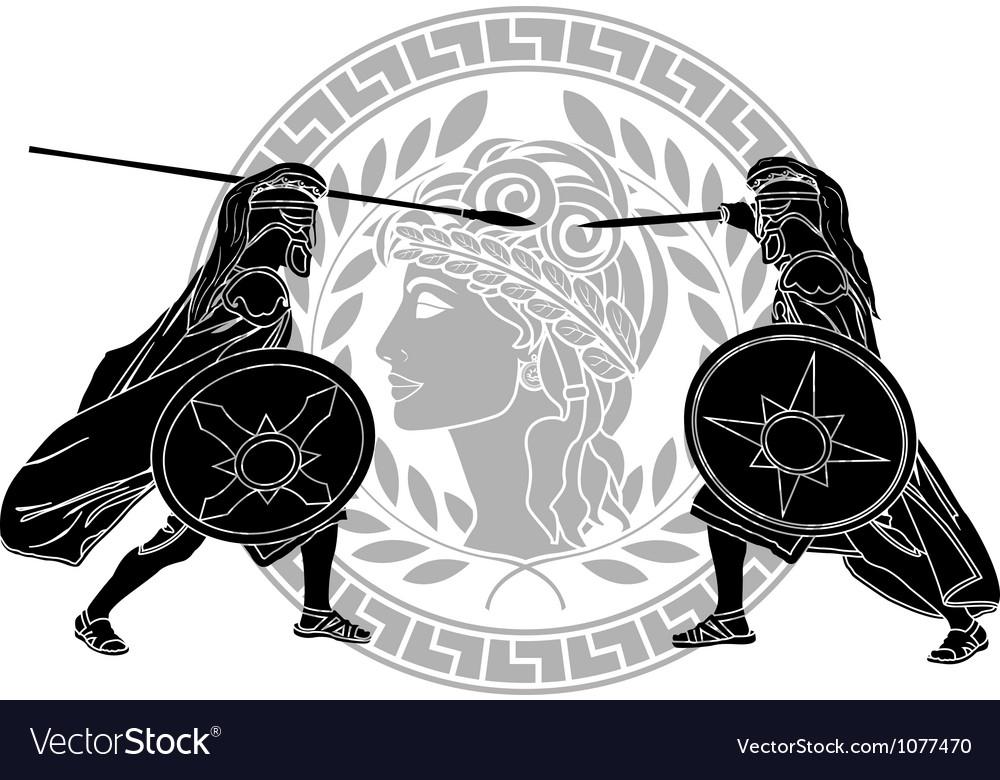 Trojan war stencil