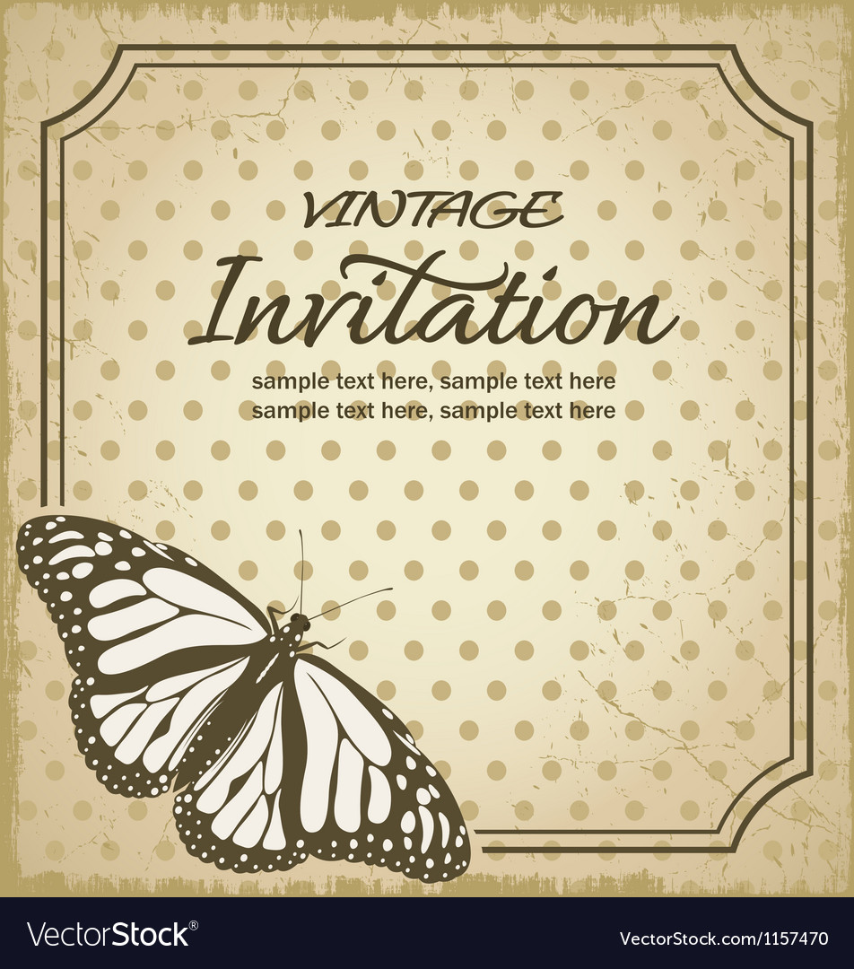 Vintage invitations Royalty Free Vector Image VectorStock