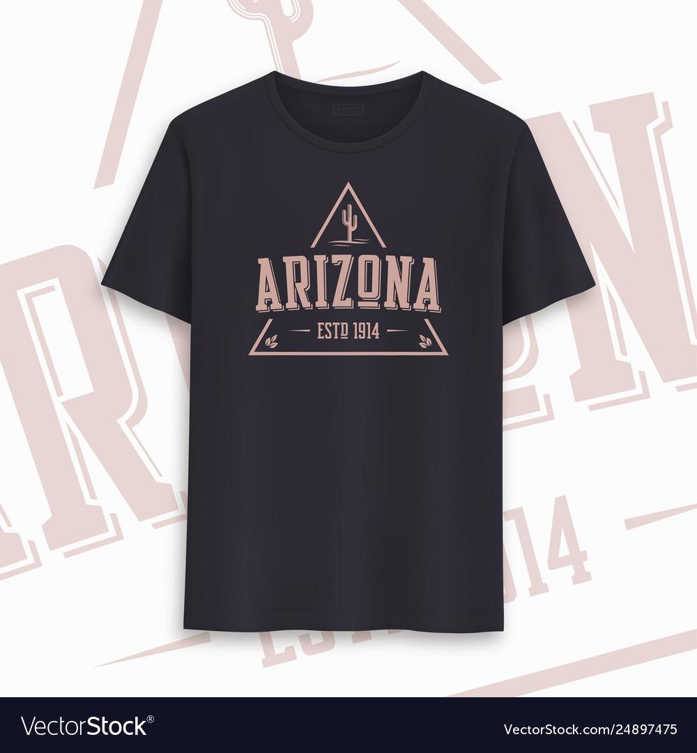 Arizona state graphic t-shirt design typography