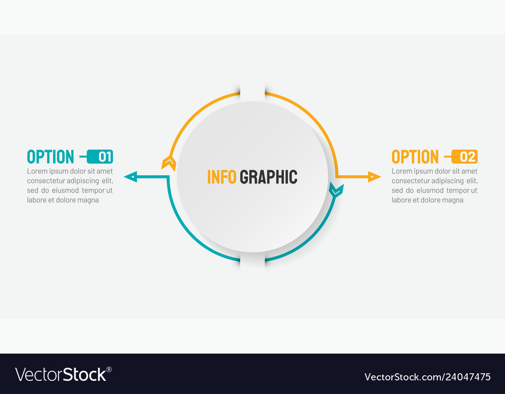 Business infographic concept with 2 options