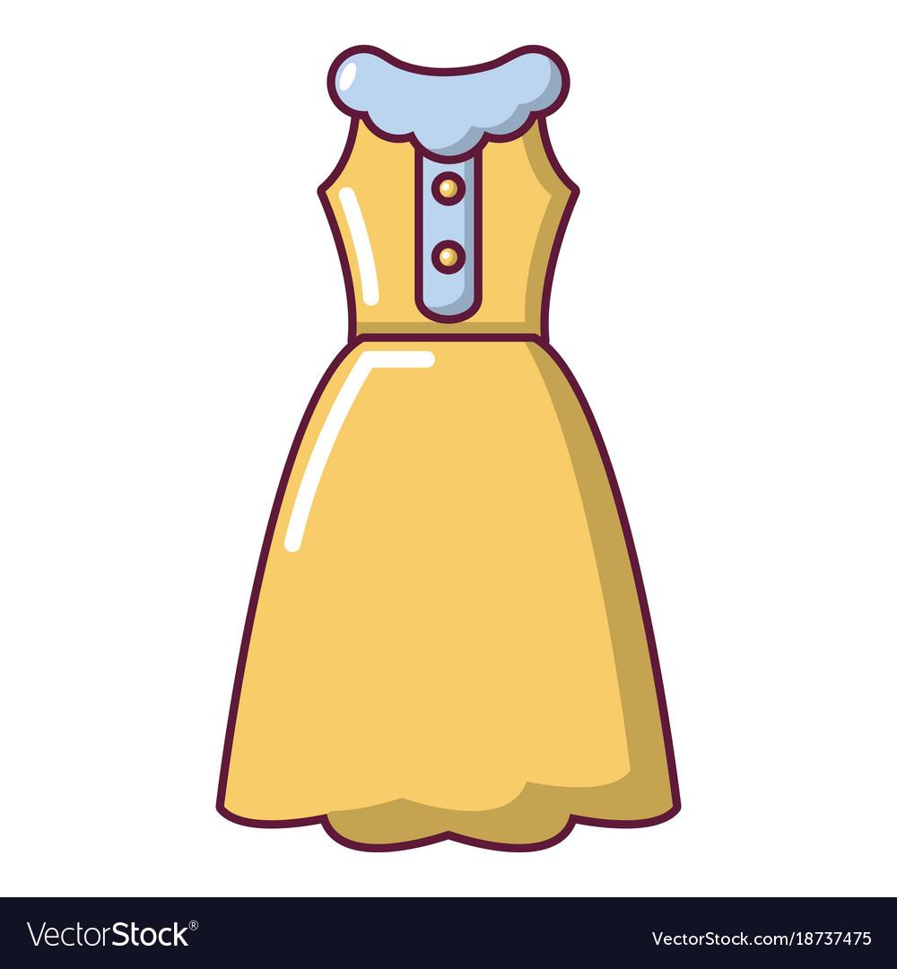 Dress model icon cartoon style