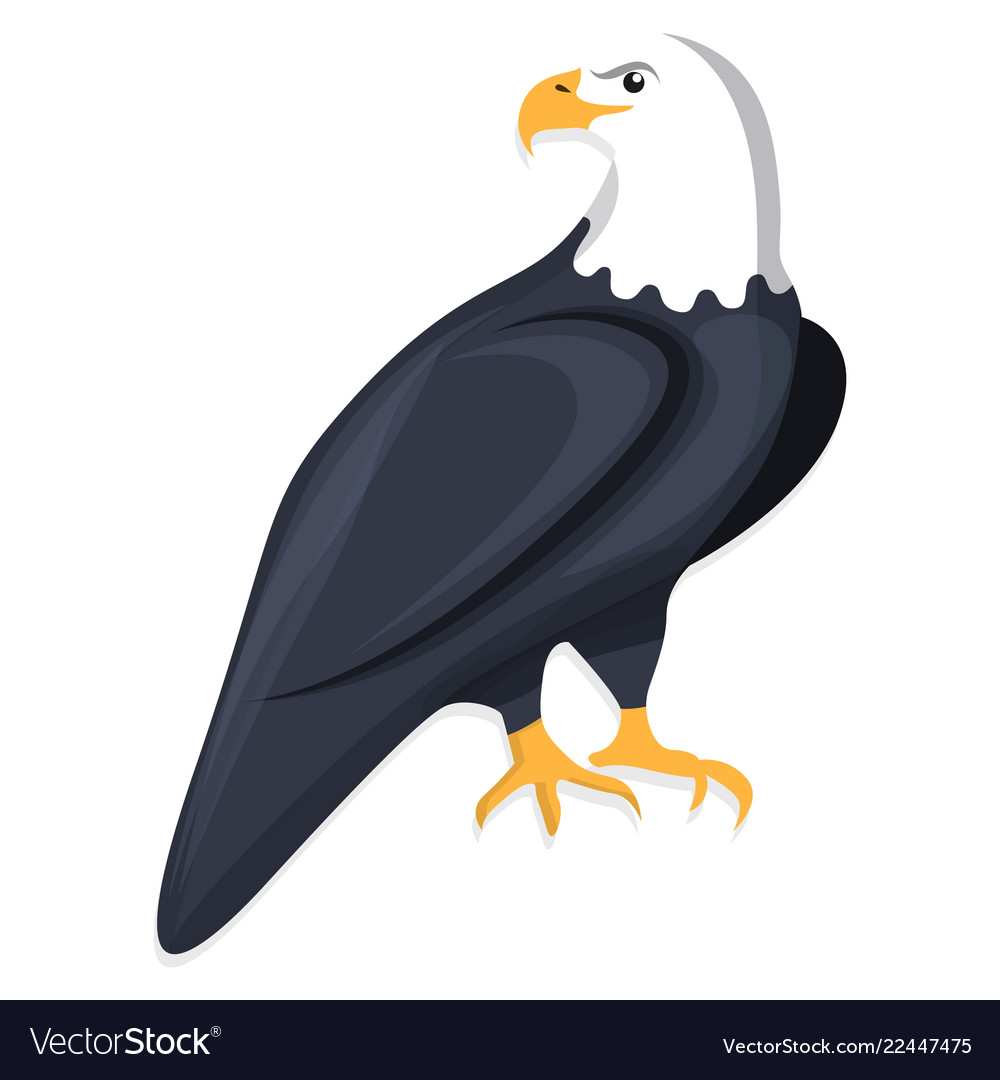 Eagle icon cartoon style