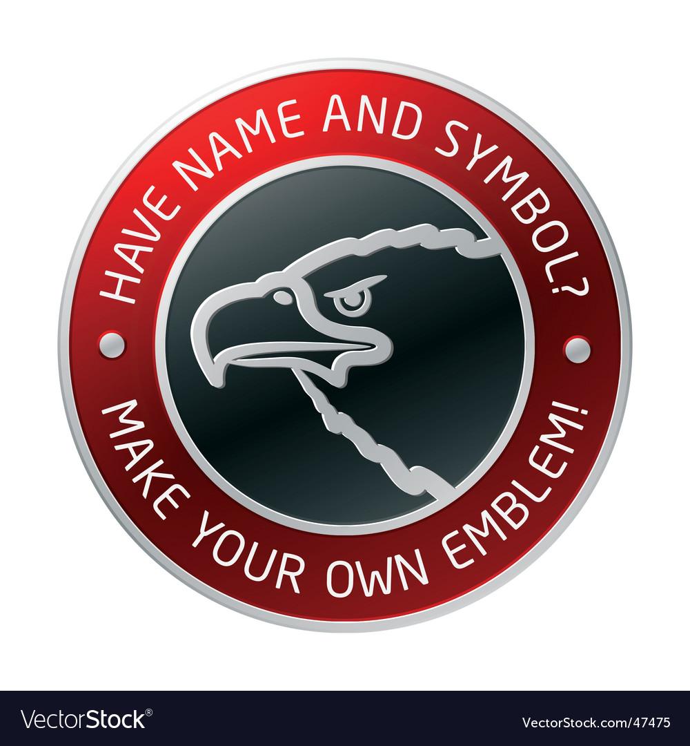 Emblem vector image