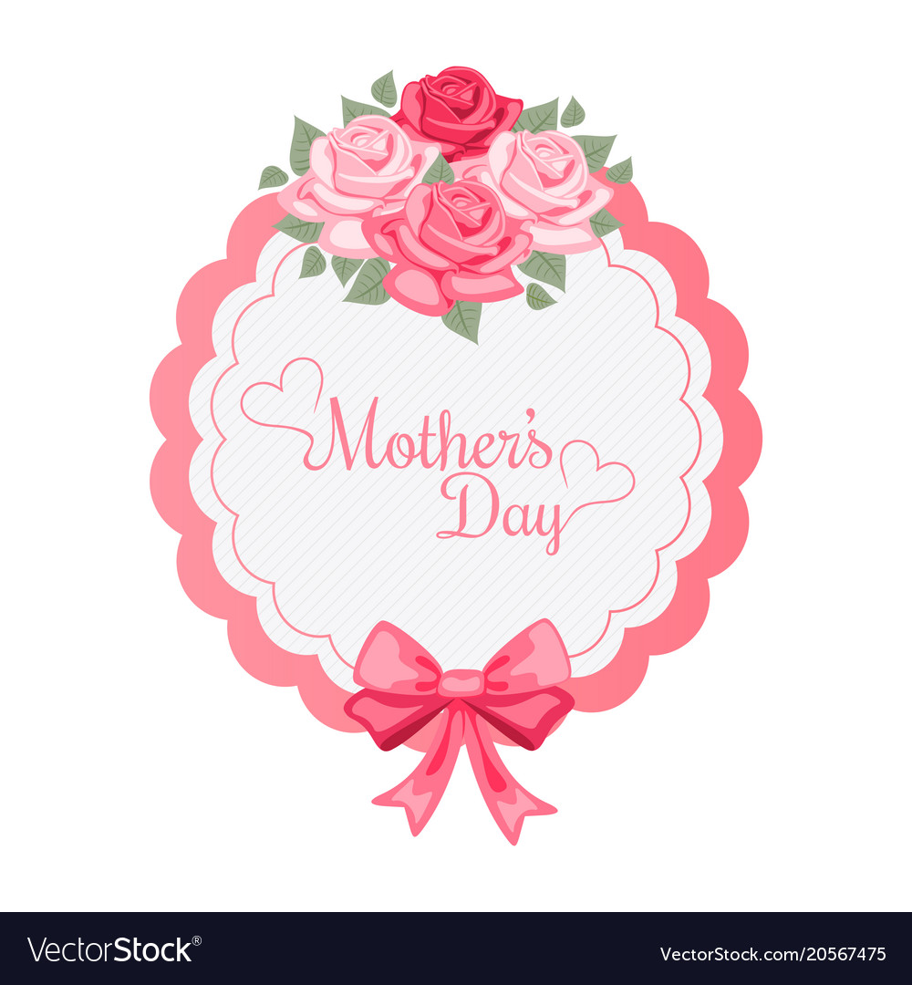 Mothers Day Roses Bouquet Background Image Vector