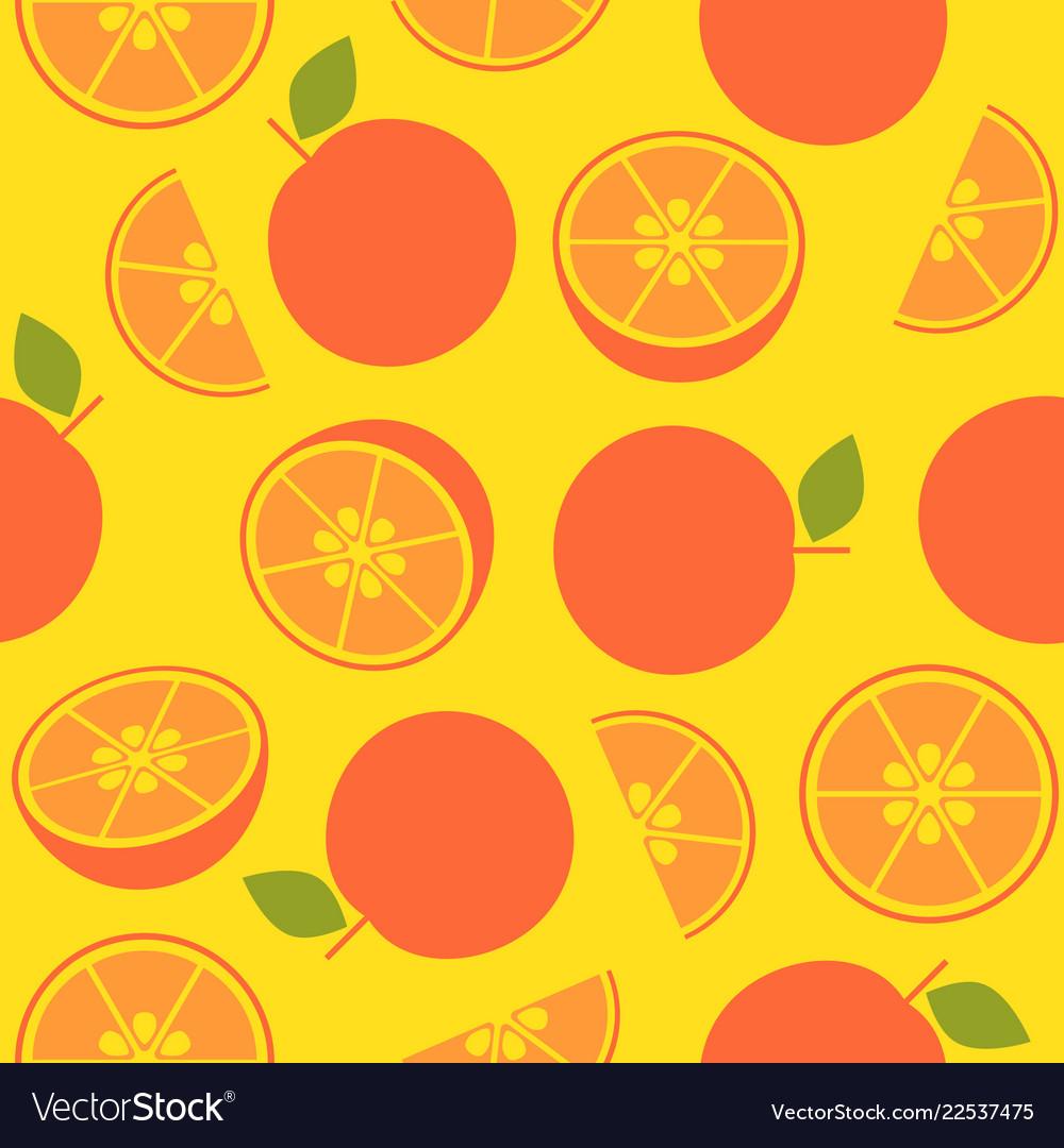 orange retro style seamless pattern for wallpaper vector 22537475