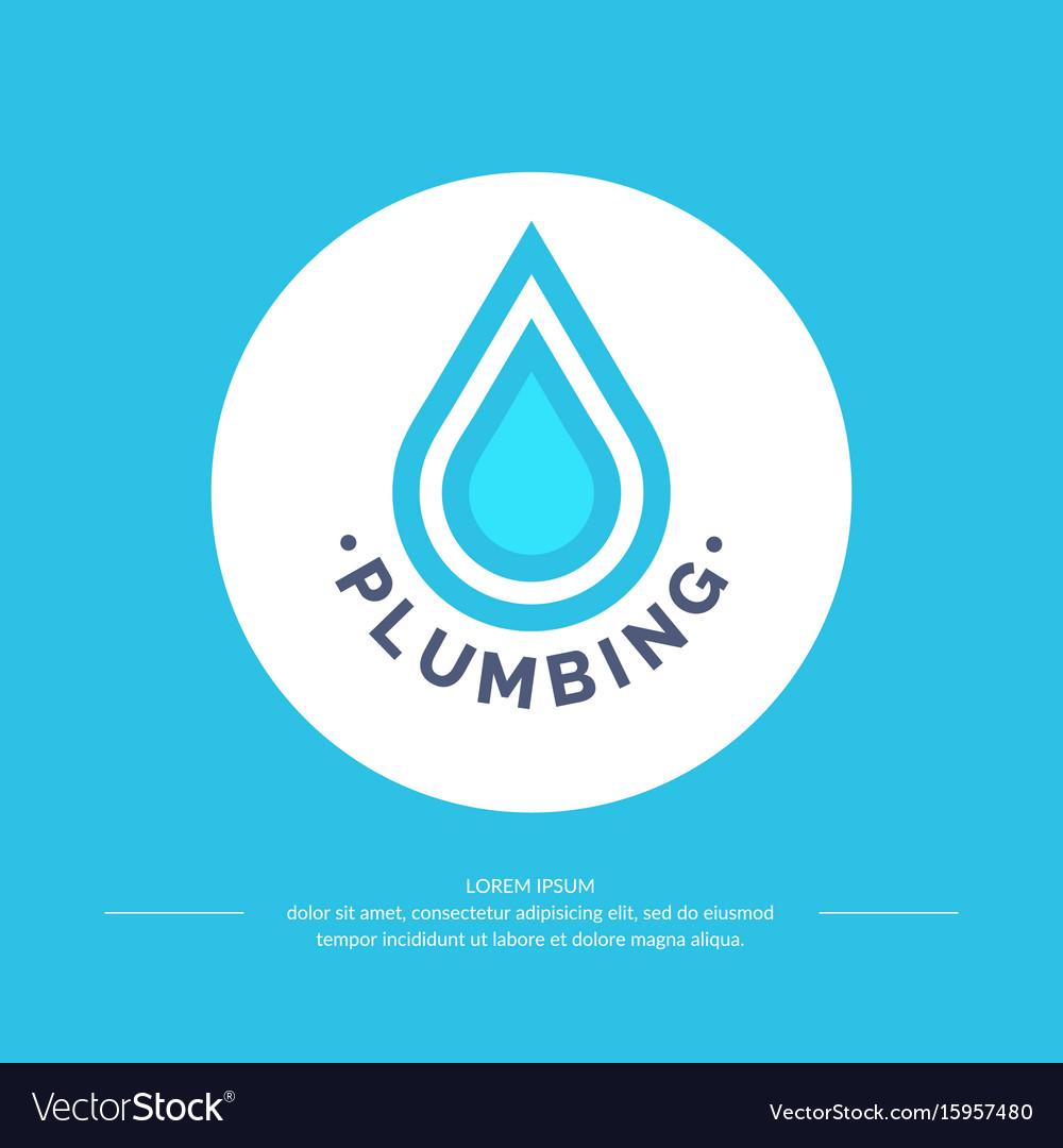 Logo plumbing service vector image