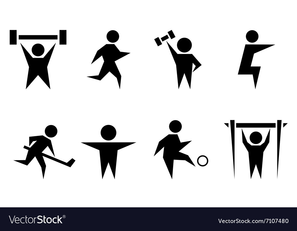 Sports and athletics icon set vector image