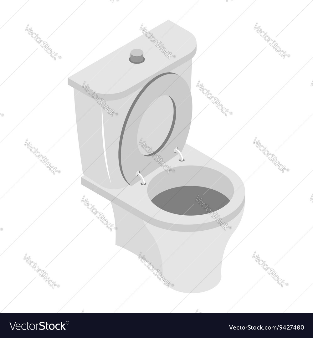 Toilet bowl on white background WS accessories