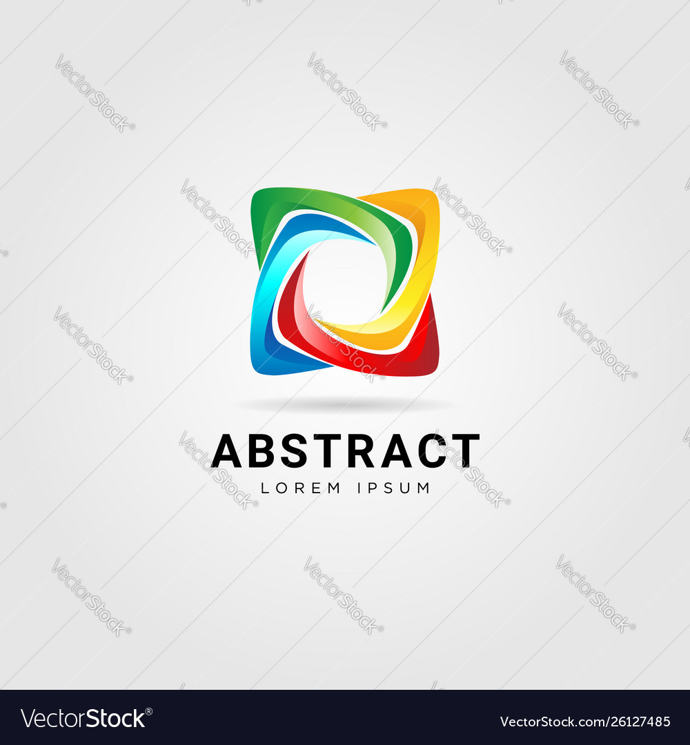 Abstract colorful star looping logo sign symbol