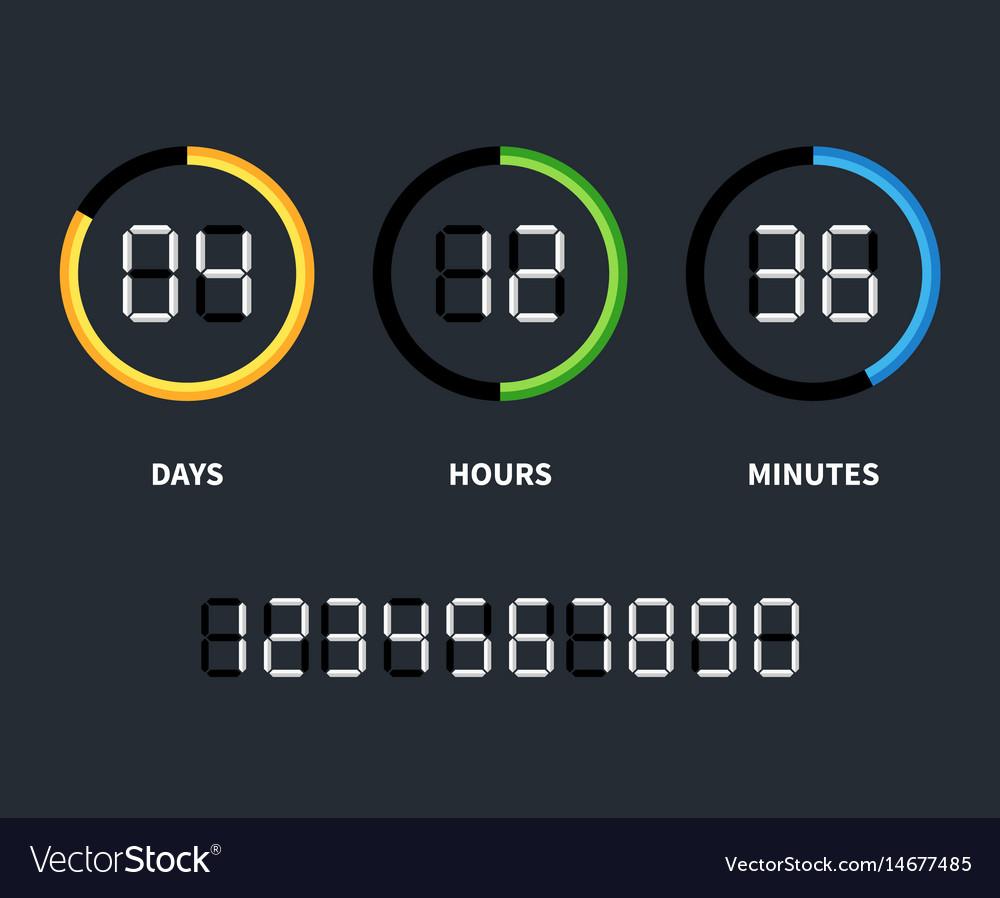 Digital countdown timer switch
