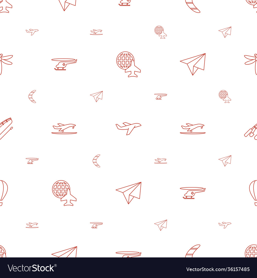 Fly icons pattern seamless white background