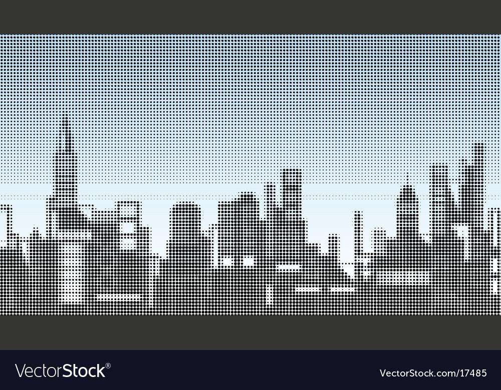 Halftone skyline