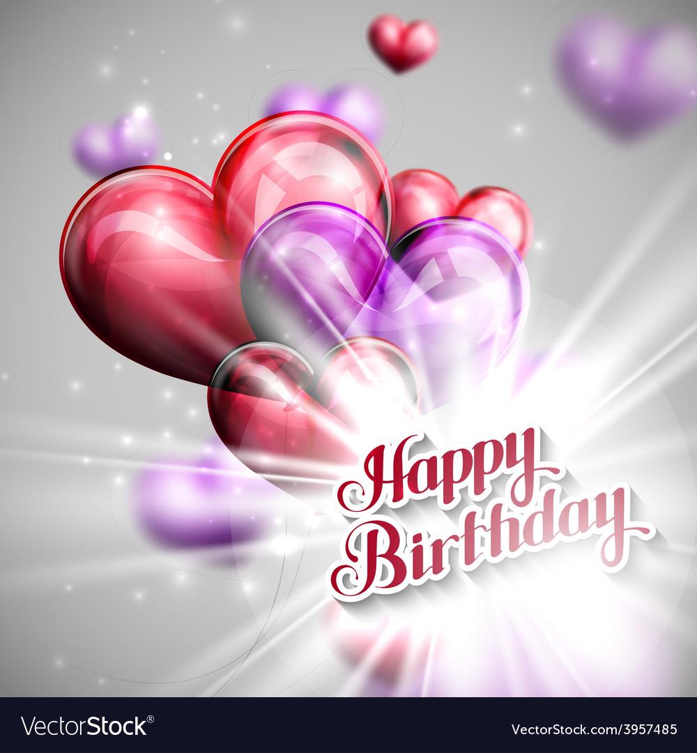 Happy Birthday emblem with balloon
