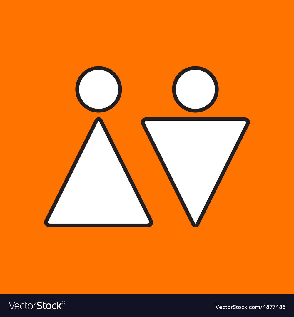 Heterosexual couple icon Eps10 vector image