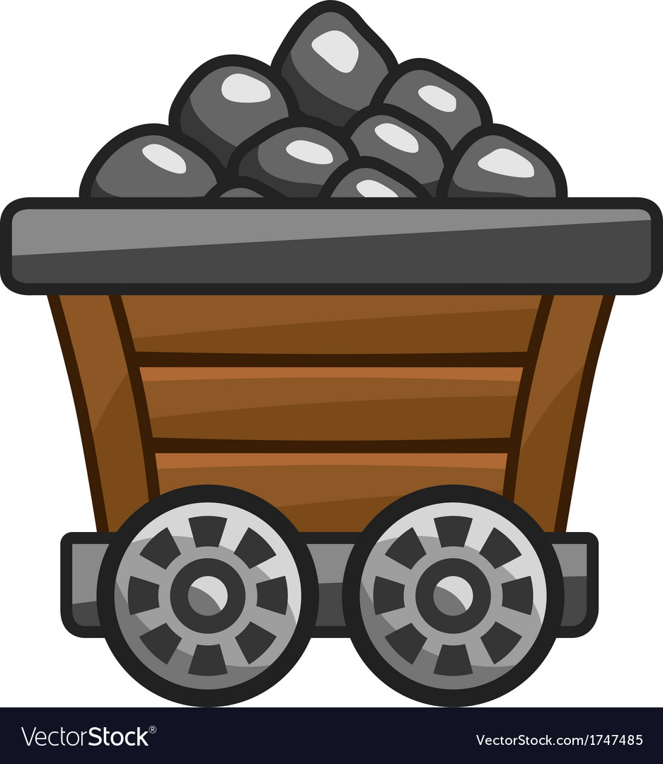 Mine cart with coal vector image